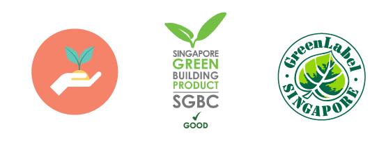 ONEWOOD has been awarded the Singapore Green Label Scheme and Singapore Green Building Product Certification