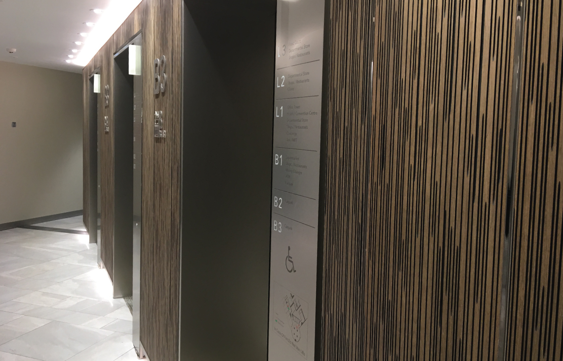 Onewood Decorative Wall Cladding at Shopping Mall
