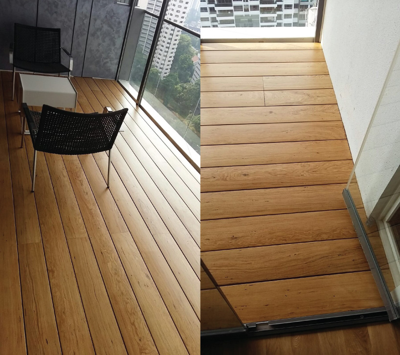 Onewood Decking at Penthouse Balcony
