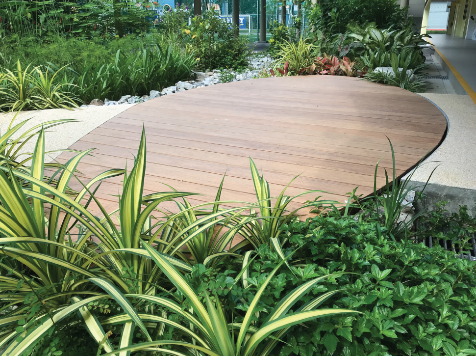 Onewood Decking at Educational Institute Garden