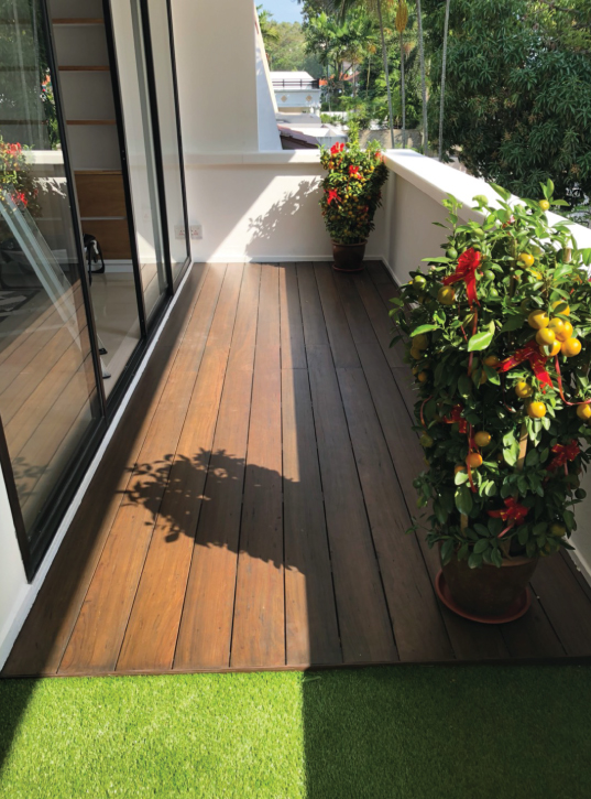 Onewood Decking at Private House Balcony