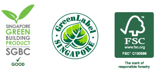 FSC Certification, Singapore Green Label Scheme and Singapore Green Building Product Certification