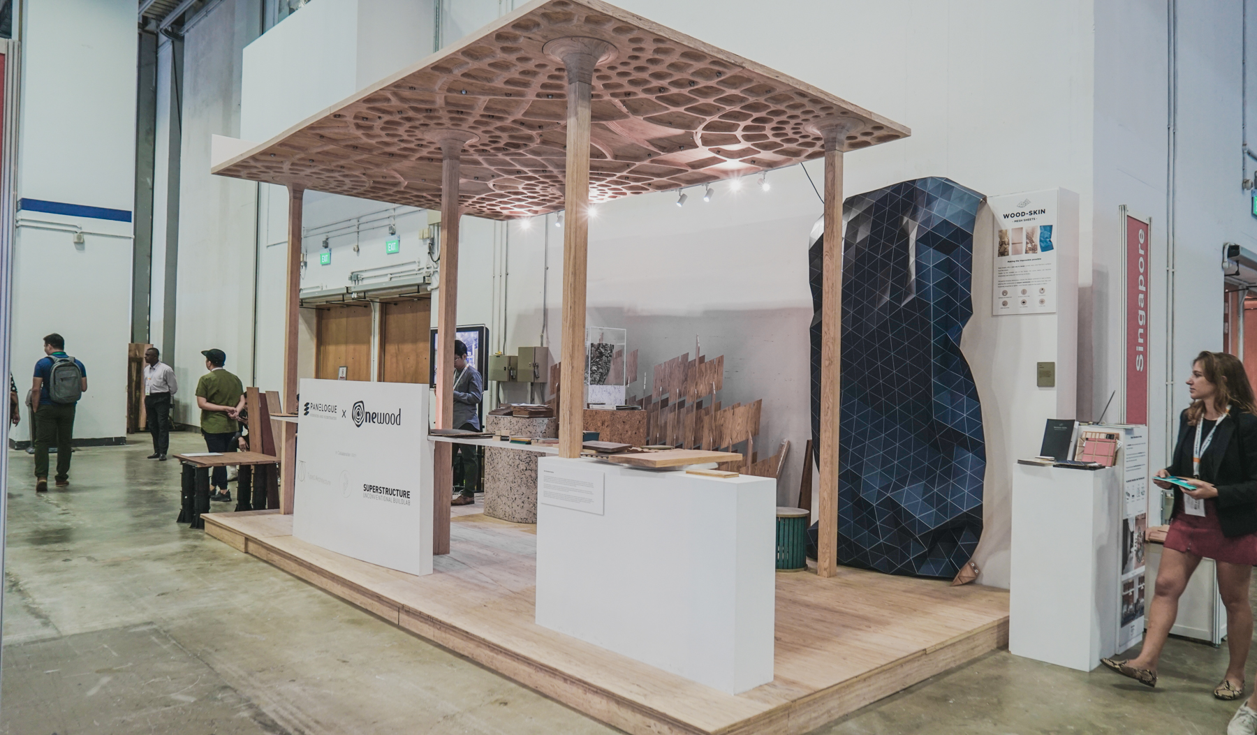 Onewood Structural Timber Pavilion