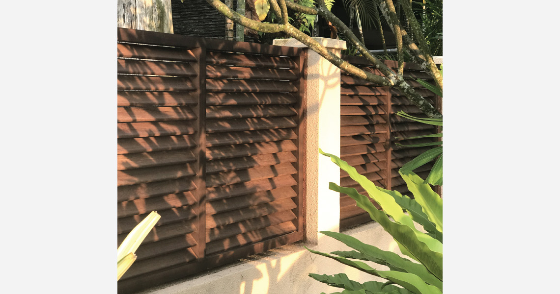 Onewood Timber Outdoor Fence at Bungalow