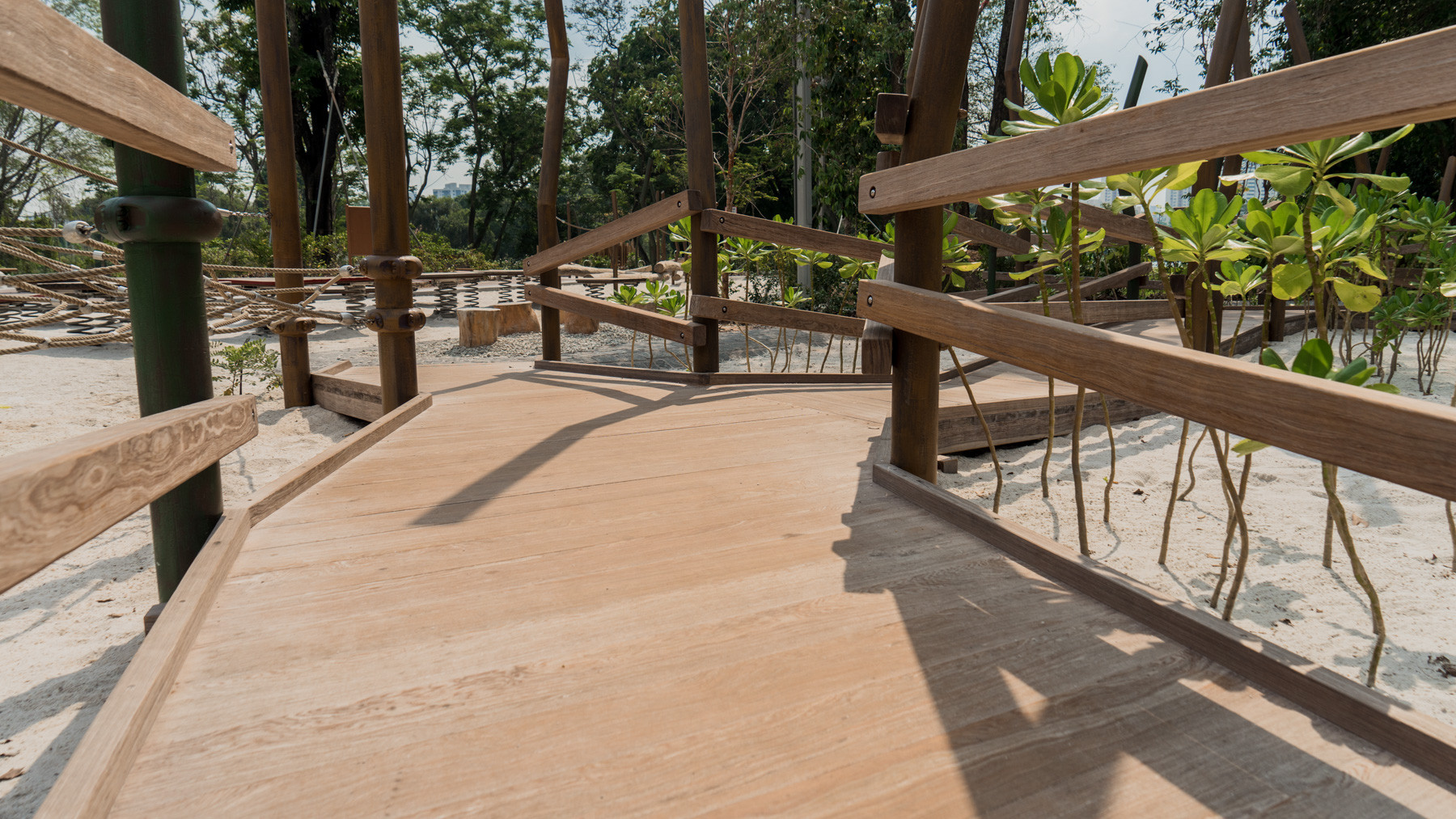 Onewood Decking Platform Children Playground