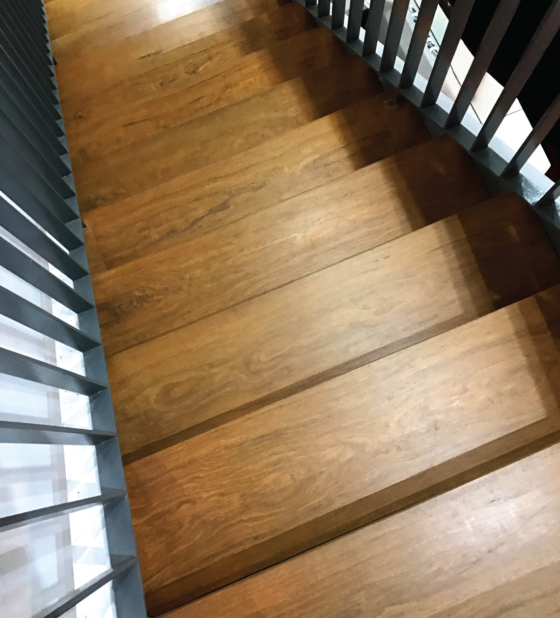 Onewood Solid Timber Staircase Tread on Steel Frame